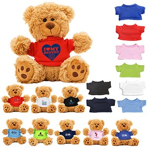 """Ted T. Bear"" 6"" Plush Teddy Bear w/Choice of T-Shirt Color"